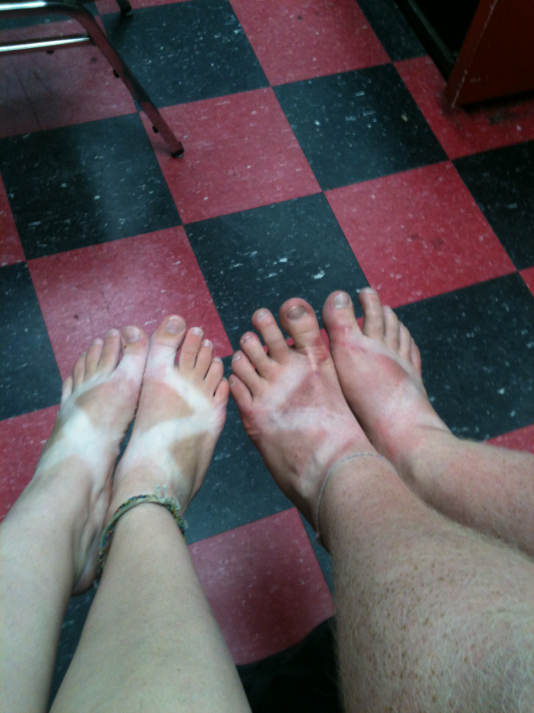 lakeshoreuma:  Check out these Chaco tans on our life guard and music director!