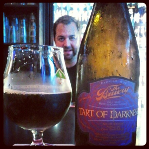 Tart of darkness! Epic @pdowning photo bomb (Taken with Instagram at Frank & Steins Eatery & Pub)