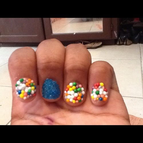 Kid got talent all edible nails (Taken with Instagram)