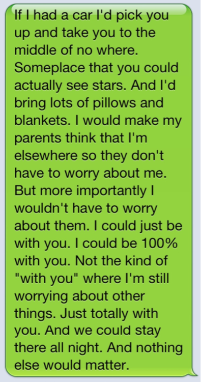 existentiallism:  If someone texted me this i would safdsfggsh
