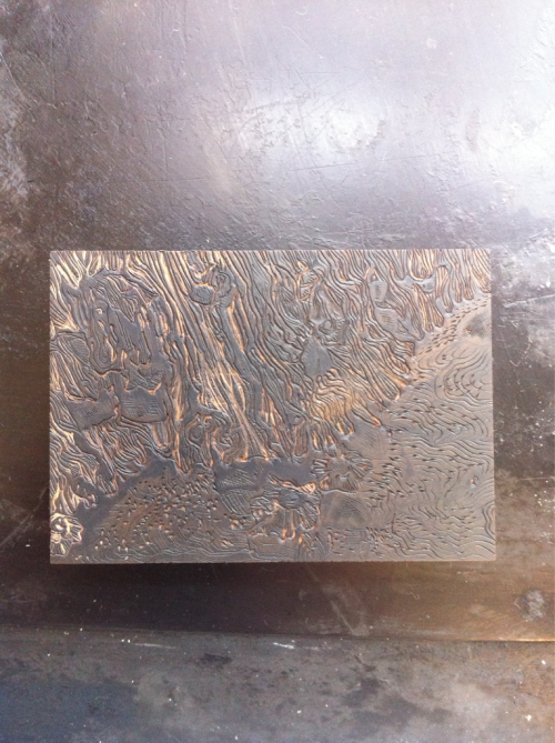 We did a wood engraving workshop with Chris Daunt, this is my wood engraving based on barnacles 2x3inches