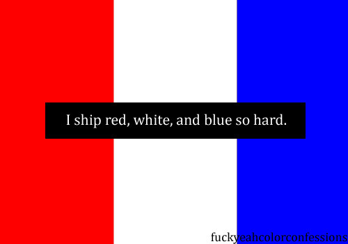 Submitted by Anonymous  I ship red, white, and blue so hard.