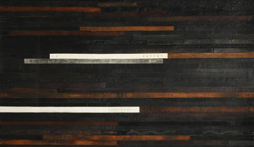 loveallthis:  Flooring made from recycled leather belts, by Ting London. Can you even imagine how luxurious this is?