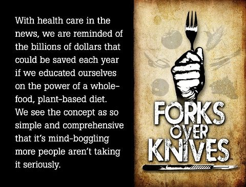 Nice graphic…and good reminder to see Forks Over Knives if you have not already.  A vegan favorite…and a must-see for meat and dairy consumers!  Click for trailer…
