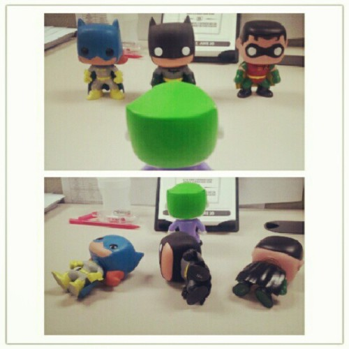 #batman #robin #batgirl #joker #dc #comics #toys (Taken with Instagram)