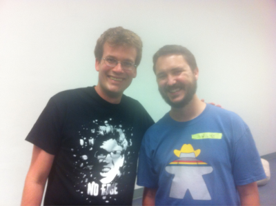 wilwheaton:  fishingboatproceeds:  Meeting Wil Wheaton at Vidcon. So awesome.  Not nearly as awesome as it was for me. Thanks for being so kind to me, John.  OMG OMG OMG OMG THIS IS AWESOME! :') ♥