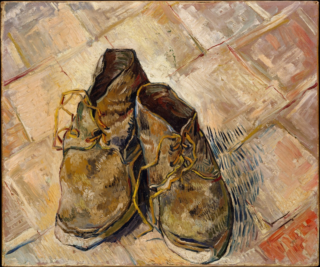 artpedia:  Vincent van Gogh - Shoes, 1888. Oil on canvas