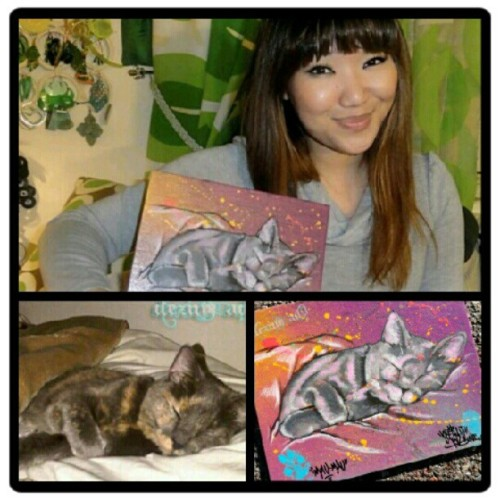 Happy Collector #Collector #petpainting #canvas #graffiti #maumau #dezinead9 #Ser_v1 #cat (Taken with Instagram)