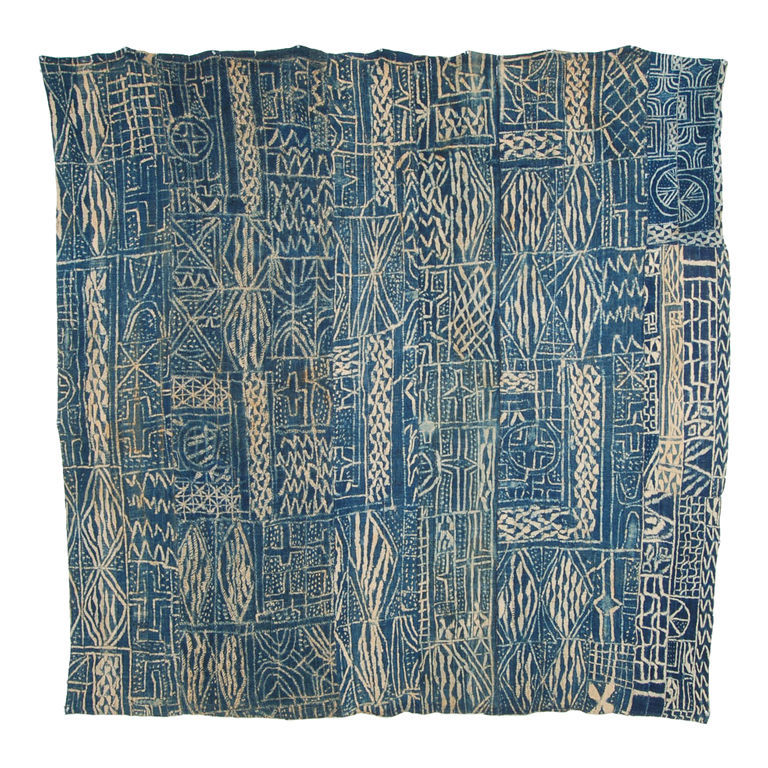 emblemantiques:  Ndop Resist-dyed Cloth, Cameroon early 20th century.