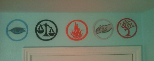 alwaysdauntless:  I also did this to the wall above my door!