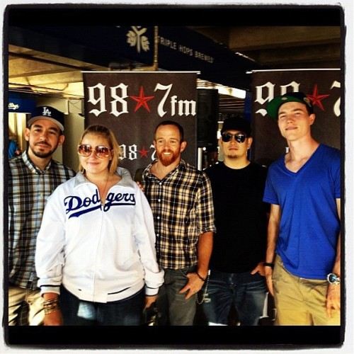 djskee:  Dodger game w/ Linkin Park cc @juliepilat @m_shinoda @987LA #thinkblue (Taken with Instagram at Dodger Stadium)