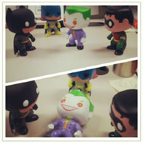 #batman #batgirl #robin #joker #dc #DCcomics #comics #toys  (Taken with Instagram)