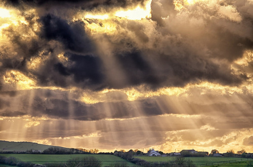 vibrantscenery:  Sunlight Eve rays. Pencuke Farm. Not HDR by Daniel2005 on Flickr.