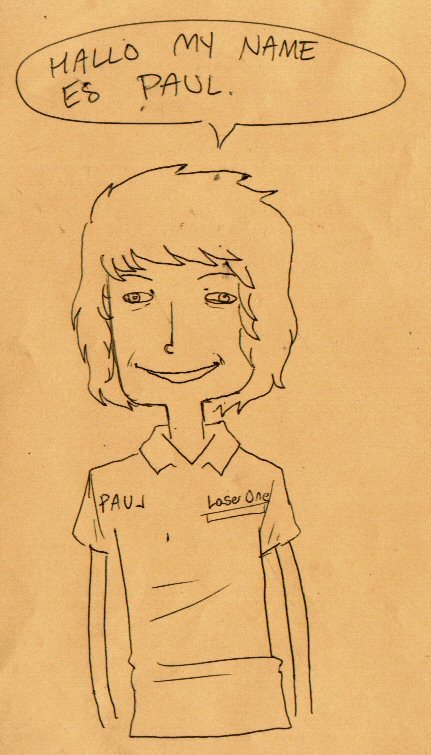 Here's a drawing of my manager, Paul. He's a cool guy :D