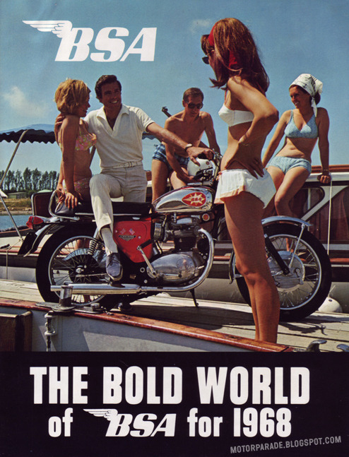 the bold world of bsa for 1968