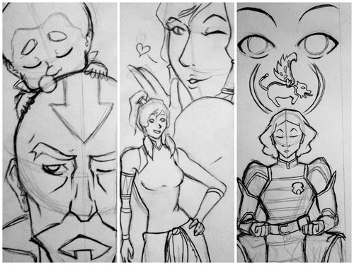WIP Korra bookmarks for John Ku