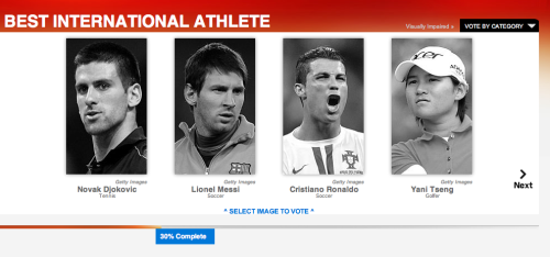 ASDFGHJKL; CRISTIANO IS NOMINATED FOR BEST MALE INTERNATIONAL ATHLETE AT THE 2012 ESPYS
