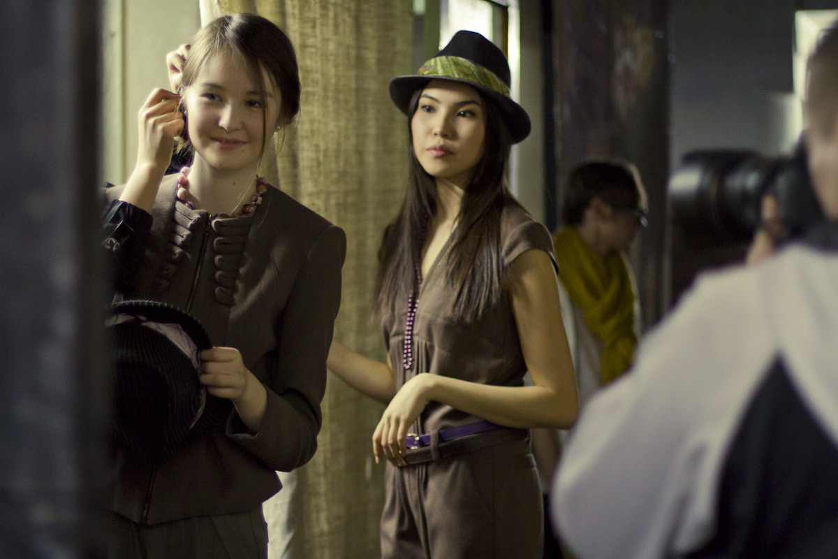 Backstage at Bishkek Fashion Week (Spring/Summer) 2012. If you're in the area, the Fall/Winter Bishkek Fashion Week starts today! (More info here)