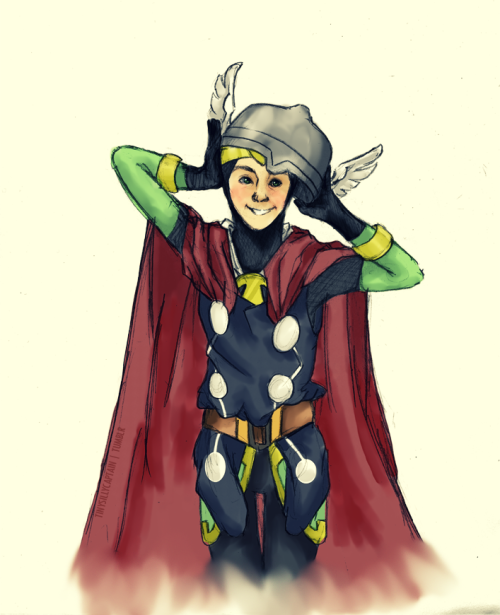 tinysillycaptain:  maybe people will trust him if he dresses up as Thor