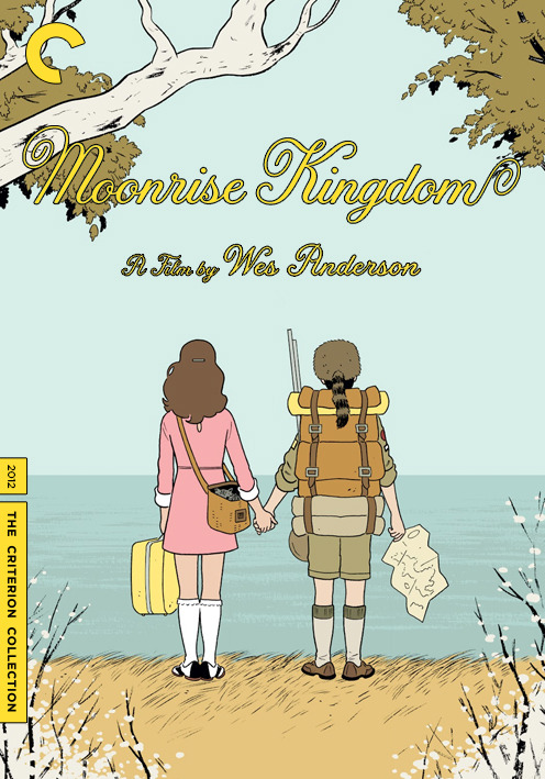 bgrevln8fu:  A look at the inevitable Criterion Collection release of Wes Anderson's Moonrise Kingdom, which I believe is now entering a nationwide release. (Original illustration by Adrian Tomine to accompany the New Yorker review of Moonrise Kingdom.)