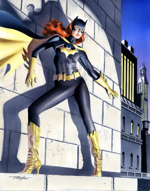 Mike Mayhew Batgirl Painted Commission by ~mikemayhew An amazing Batgirl painting. Her badass is totally evident in this piece.