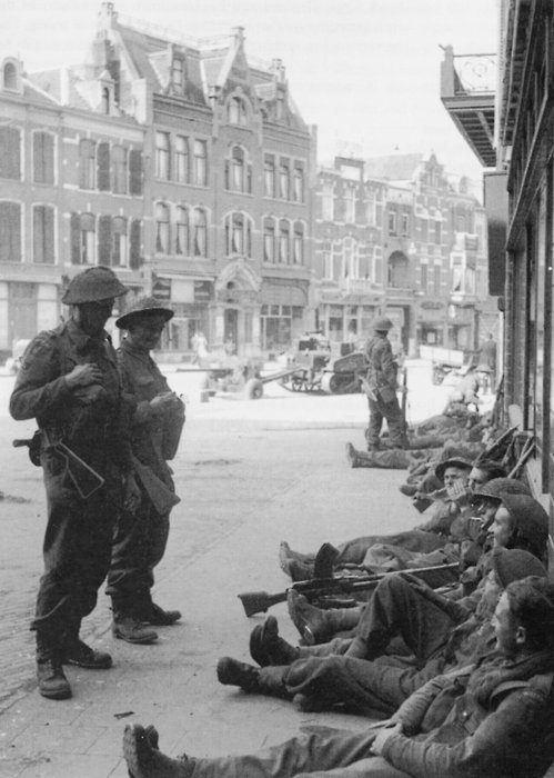 Troopers resting somewhere in the Netherlands, September 1944