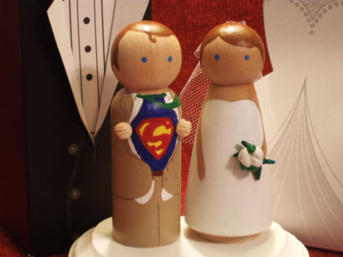 Adorable cake toppers.