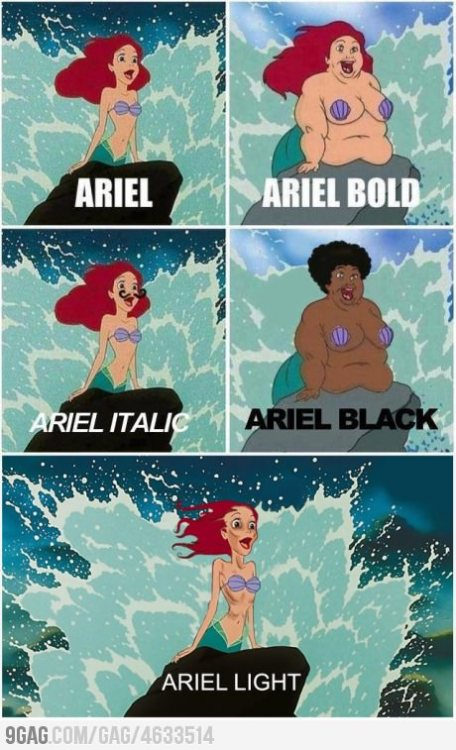 9gag:  Ariel Light