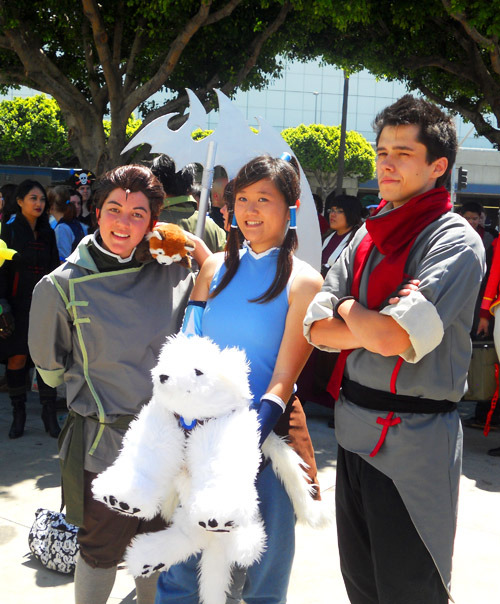 AX 2012 (Friday) ▶ Bolin, Korra, Mako, Pabu and Naga!!  Wow awesome! Also that Naga plush! OwO