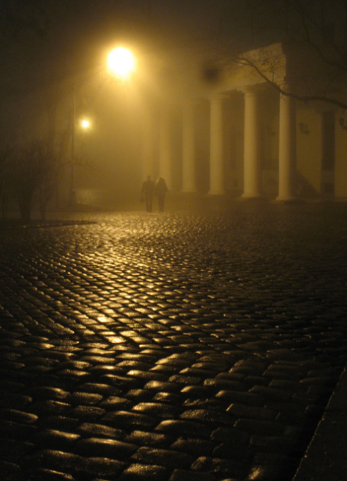 art-and-dream:  Photography   Night… A fog… Two…by Den.Gc