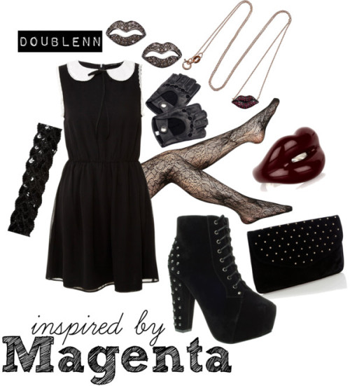 Magenta by doublenn featuring black boots
