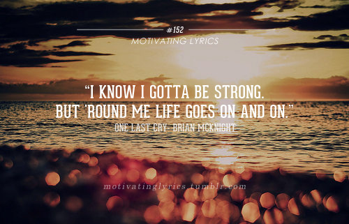 motivatinglyrics:  One Last Cry - Brian McKnight