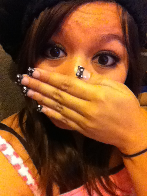 Ninja fail. Haha, no. My first manicure! I feel so girly today.