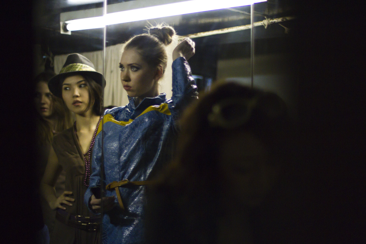 Backstage at Bishkek Fashion Week 2012.