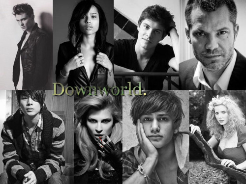 The Downworld Family, left to right: Jordan Kyle; Shiloh Fernandez. Maia Roberts; Zoe Kravitz. Simon Lewis; Xavier Samuel. Lucian Graymark; Timothy Olyphant. Magnus Bane; Justin Chon. Camille Belcourt; Clemence Poesy. Raphael Santiago; Luke Pasqualino. The Seelie Queen; Rachel Clare Hurd-Wood.