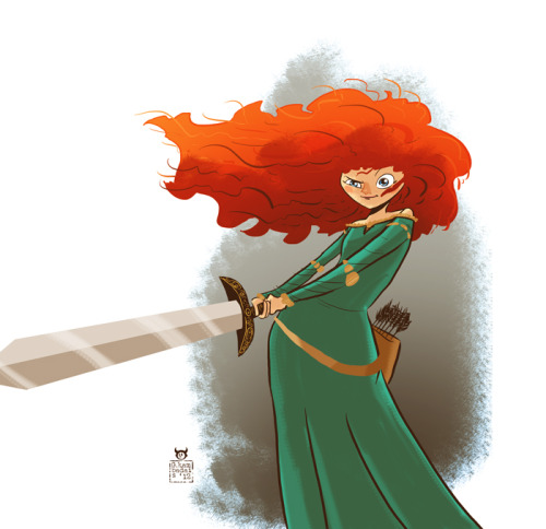 """One character a day"", day 1, Merida"