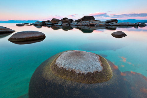 deathtosadness:  Round Rock, Sand Harbor, Lake Tahoe by Jared Ropelato on Flickr.