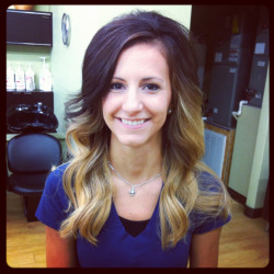 The front side of the ombré I did today💓💓