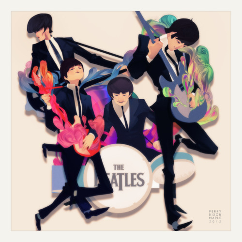 You know you twist so fine.  The Beatles illustrated by Perry Dixon Maple :: via perrymaple.com
