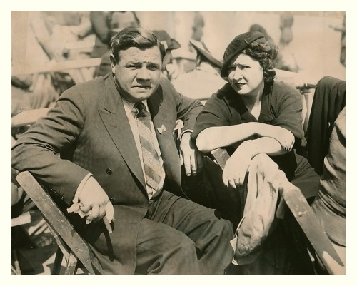 Babe Ruth & Wife Claire At The Kentucky Derby Churchill Downs - Louisville, KY - May 2, 1936