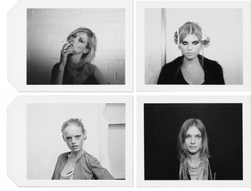 Kate Moss, Maryna Linchuk, Hanne Gaby Odiele and Natalia Vodianova photographed by Anna Bauer