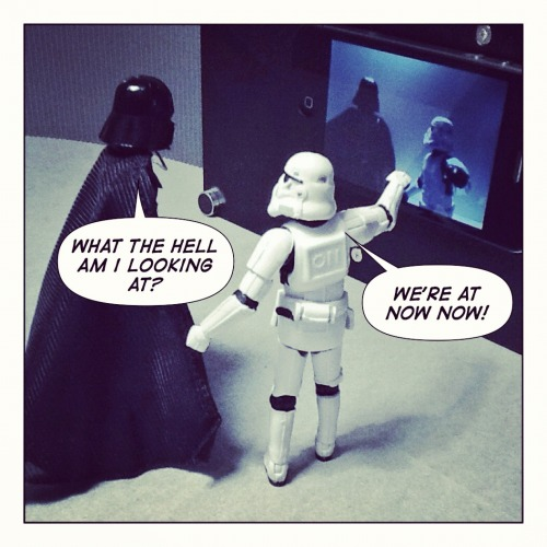 nerdherdr:  Vader is watching Spaceballs NOW