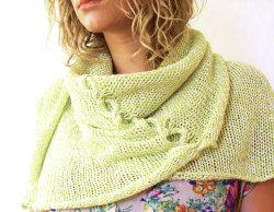Twisted Verde Shawl, Italian mill end cotton, Lillian Jackson Textiles Sp/Su 2012