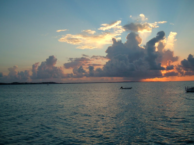 Here's a picture of the sunset from the Turks and Caicos Islands in the Caribbean West Indies. I was there in 2009 with my family and would love to go back. I've been at school taking classes for most of the summer and could really use a week at the beach.