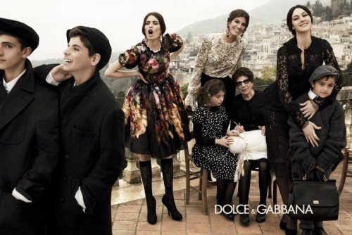 I do not have much liking for Dolce&Gabbana: I in fact make sure that whenever I purchase anything from the brand - usually jewellery, belts and small leather goods alike - the logo is barely noticeable. I must although admit that this Fall/Winter collection is brilliant. I like the Sicilian touch that has been given to this campaign and I am absolutely in love with the bag at the bottom right corner: if only stereotypes always looked that fabulous.