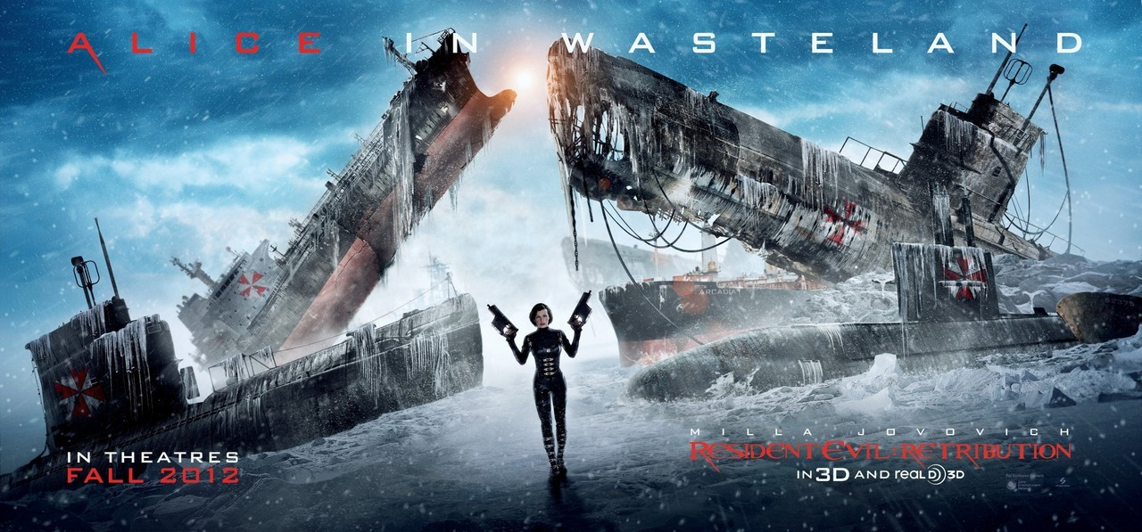 "Resident Evil: Retribution (Banner) Director: Paul W.S. Anderson Writer: Paul W.S. Anderson Stars: Milla Jovovich, Sienna Guillory and Michelle Rodriguez Synopsis:  The wildly successful film franchise adaptation that has grossed nearly $700 million worldwide to the popular video game series, ""Resident Evil,"" returns in its highly anticipated fifth installment, ""Re5ident Evil: Retribution"" in state-of-the art 3D. The Umbrella Corporation's deadly T-virus continues to ravage the Earth, transforming the global population into legions of the flesh eating Undead. The human race's last and only hope, Alice (Milla Jovovich), awakens in the heart of Umbrella's most clandestine operations facility and unveils more of her mysterious past as she delves further into the complex. Without a safe haven, Alice continues to hunt those responsible for the outbreak; a chase that takes her from Tokyo to New York, Washington, D.C. and Moscow, culminating in a mind-blowing revelation that will force her to rethink everything that she once thought to be true. Aided by newfound allies and familiar friends, Alice must fight to survive long enough to escape a hostile world on the brink of oblivion. The countdown has begun."