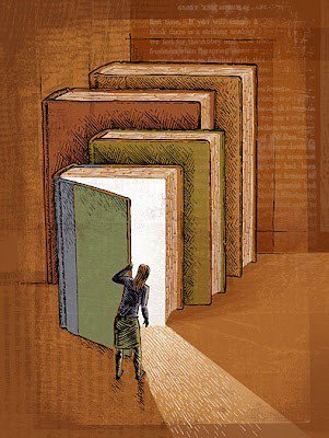 wordpainting:  Open a book, there's an adventure inside!