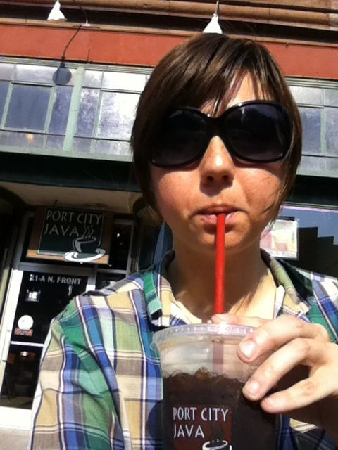 last iced coffee from @portcityjava for awhile. June 30th, 2012