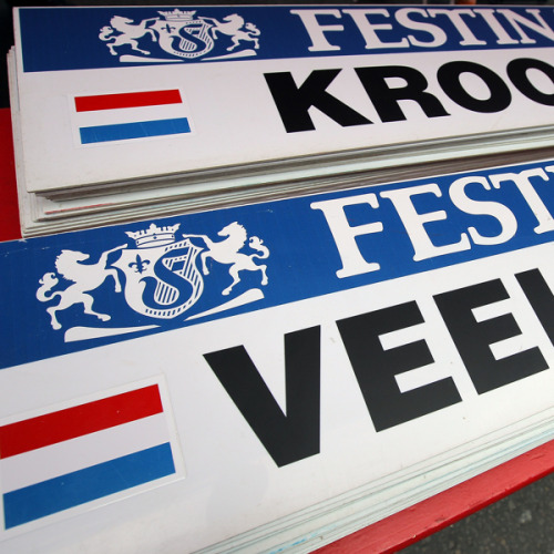 LIEGE, BELGIUM - JUNE 30: The car placard for Tom Veelers of the Netherlands - the first rider on course for the prologue - riding for Agos-Shimano is displayed ahead of the 2012 Tour de France on June 30, 2012 in Liege, Belgium. (Photo by Doug Pensinger/Getty Images) (via Le Tour de France 2012 - Prologue - Yahoo! Sports Photos)