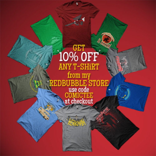 !!use promo code COMICTEE to get 10% OFF any shirt from my redbubble store!! http://kgullholmen.redbubble.com
